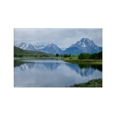 Teton Reflection Rectangle Magnet