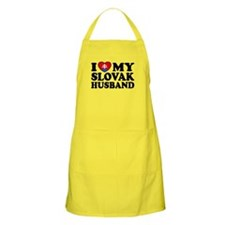 I Love My Slovak Husband BBQ Apron
