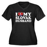 I Love My Slovak Husband Women's Plus Size V-Neck