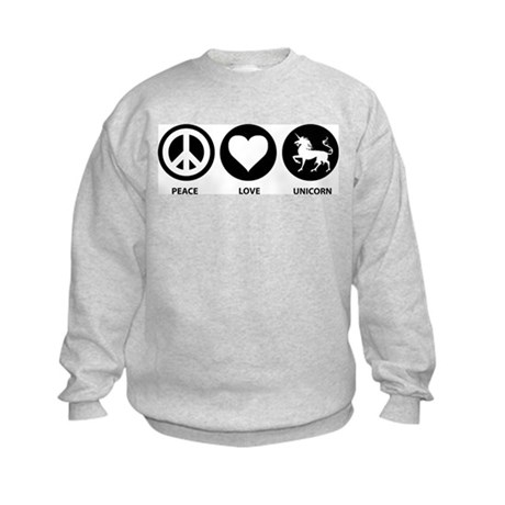 Peace Love Unicorn Kids Sweatshirt