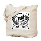 Long Beach Skull Wings Tote Bag