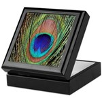 Peacock Feather Keepsake Box