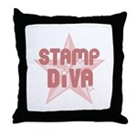 Stamp Diva Throw Pillow