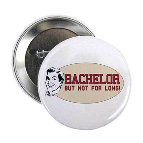 "Hip Retro Vintage Bachelor 2.25"" Button (100 pack)"