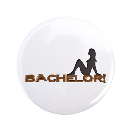 "Bachelor Female Silhouette 3.5"" Button"
