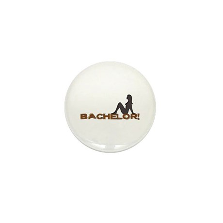 Bachelor Female Silhouette Mini Button
