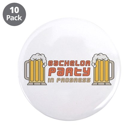 "Bachelor Party 3.5"" Button (10 pack)"