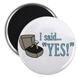 "I Said ""Yes!"" Newly Engaged 2.25"" Magnet (10 pack)"