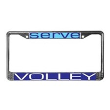 Serve Volley License Plate Frame