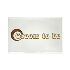 Groom to Be Retro Rectangle Magnet