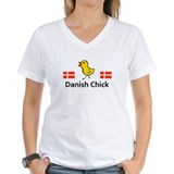 Danish chick Womens V-Neck T-shirts