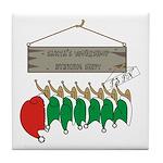 Santa's Workshop Tile Coaster