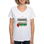 Santa's Workshop Women's V-Neck T-Shirt