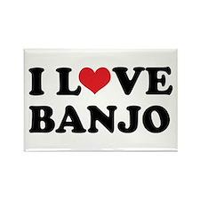 I Love Banjo Rectangle Magnet