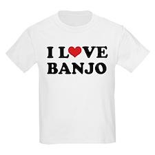 I Love Banjo Kids Light T-Shirt