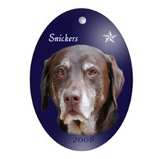 Snickers Oval Ornament