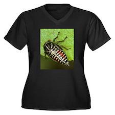 Funny Dpughphoto Women's Plus Size V-Neck Dark T-Shirt