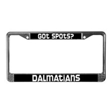 got spots? Dalmatian License Plate Frame