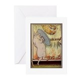 """Three Pigs/Big, Bad Wolf"" Greeting Cards (Pk of 1"