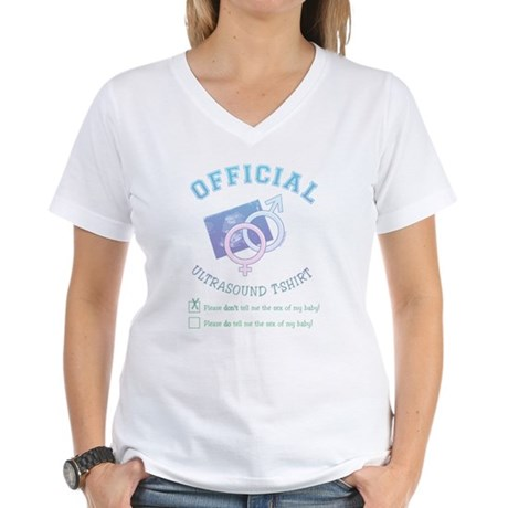 Official Ultrasound Don't Tell Women's V-Neck T-Sh