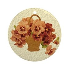 Basket of Flowers Ornament (Round)