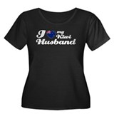 I love my Kiwi husband Women's Plus Size Scoop Nec