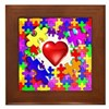 Love Breaks Thru Framed Tile