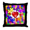 Love Breaks Thru Throw Pillow