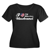 I love my Liberian Husband Women's Plus Size Scoop