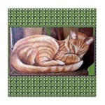Cat-cha watching Tile Coaster