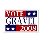 Vote Gravel 2008 11x17 Poster Print