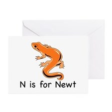 N is for Newt Greeting Cards (Pk of 20)