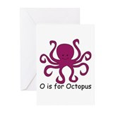 O is for Octopus Greeting Cards (Pk of 10)