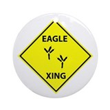 Eagle Crossing Ornament (Round)