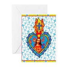 Sacred Heart Milagro Greeting Cards (Pk of 10)