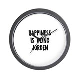 Happiness is being Jorden Wall Clock
