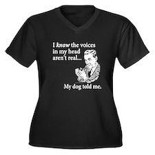 The Voices... Women's Plus Size V-Neck Dark T-Shir