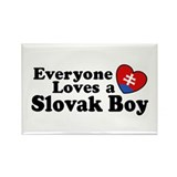 Everyone Loves a Slovak Boy Rectangle Magnet