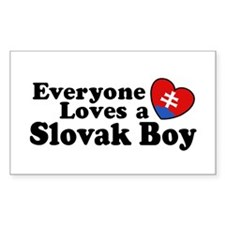 Everyone Loves a Slovak Boy Rectangle Decal