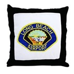 Long Beach Airport PD Throw Pillow