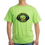 Long Beach Airport PD Green T-Shirt