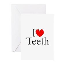 """I Love (Heart) Teeth"" Greeting Cards (Pk of 10)"