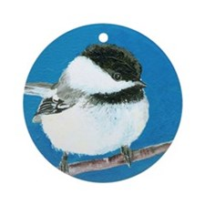 Momma Pajama's Chickadee Ornament (Round)