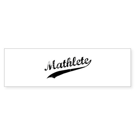 Mathlete Bumper Sticker