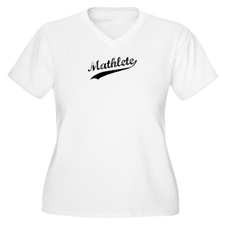 Mathlete Women's Plus Size V-Neck T-Shirt