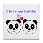 I LOVE MY HUBBY Tile Coaster