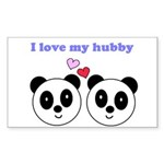 I LOVE MY HUBBY Rectangle Sticker