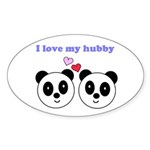 I LOVE MY HUBBY Oval Sticker