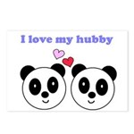 I LOVE MY HUBBY Postcards (Package of 8)