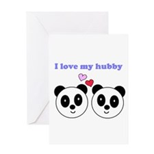 I LOVE MY HUBBY Greeting Card
